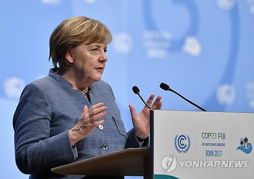 脫석탄화력 앞에 작아진 메르켈…기후총회서 주도력 행사 못해
