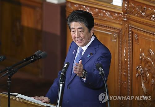 """日아베 """"북한, 일본 타격할 수 있는 노동미사일 수백발 보유"""""""