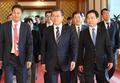 Moon et le nouveau ministre des PME