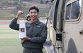La flamme olympique transportée en hélicoptère