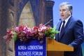 الرئيس الأوزبكي يلقي خطابا في سيئول