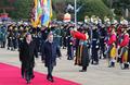 الرئيسان الكوري الجنوبي والأوزبكي يستعرضان حرس الشرف