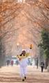 La antorcha olímpica en Damyang