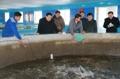 El líder norcoreano en una piscifactoría