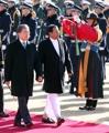 Líderes de Corea del Sur y Sri Lanka