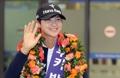米女子ゴルフ3冠の朴 凱旋帰国