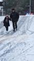 雪の通学路