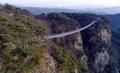 高さ100メートルのつり橋