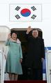 文大統領夫妻 中国へ