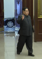 El líder norcoreano fumando