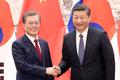 Los presidentes Moon Jae-in y Xi Jinping