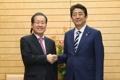 El líder de la oposición con Abe