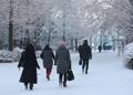 ソウル郊外で積雪10センチ