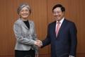 La canciller con el vice primer ministro vietnamita