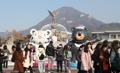 Las mascotas de PyeongChang 2018 en Cheong Wa Dae