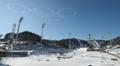 Aros olímpicos en el cielo