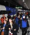 Primeros pasajeros del tren bala entre Seúl y Gangneung