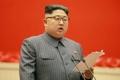 Kim Jong-un en una reunión de células del partido