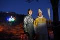El enviado estadounidense con el emblema olímpico
