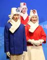 Trajes para las ceremonias de victoria de PyeongChang 2018