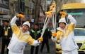 La llama olímpica en Daegu