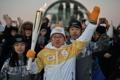 Primer relevo de la antorcha olímpica del 2018