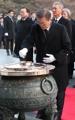 El presidente en el Cementerio Nacional de Seúl
