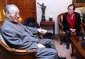 El líder de la oposición con el ex primer ministro