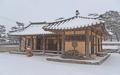 Sanctuaire Solmoe sous la neige