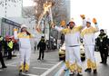 Transmission de la flamme olympique