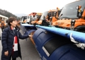 Preparation for snow removal at Olympics