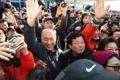 سكان كانغ رونغ يستقبلون فريق المقدمة الكوري الشمالي