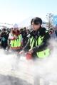 Fire drill at PyeongChang Olympics' press center