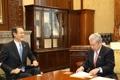 駐日韓国大使 伊達参院議長を表敬訪問