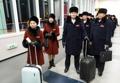 Athlètes nord-coréens au Sud