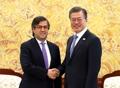 Moon avec le gouverneur de la BID