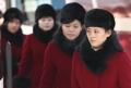 Membres de la troupe artistique nord-coréenne
