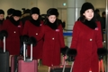 Supportrices nord-coréennes au Sud