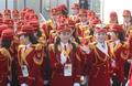 Supportrices nord-coréennes au village olympique
