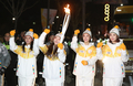 Olympic torch relay by girl group