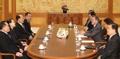 Moon con la delegación de alto nivel de Corea del Norte