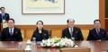 Delegación norcoreana en Cheong Wa Dae