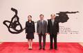 Avec la délégation nord-coréenne