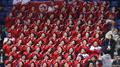 北朝鮮選手を応援