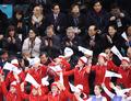El grupo de animadoras norcoreanas