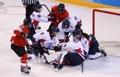 El equipo intercoreano de 'hockey'