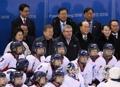 Moon anima al equipo intercoreano de 'hockey'