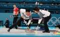 Equipo surcoreano de dobles mixtos de 'curling'