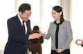 乾杯する韓国首相と正恩氏妹