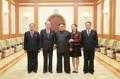Kim Jong-un y la delegación norcoreana de alto rango para PyeongChang